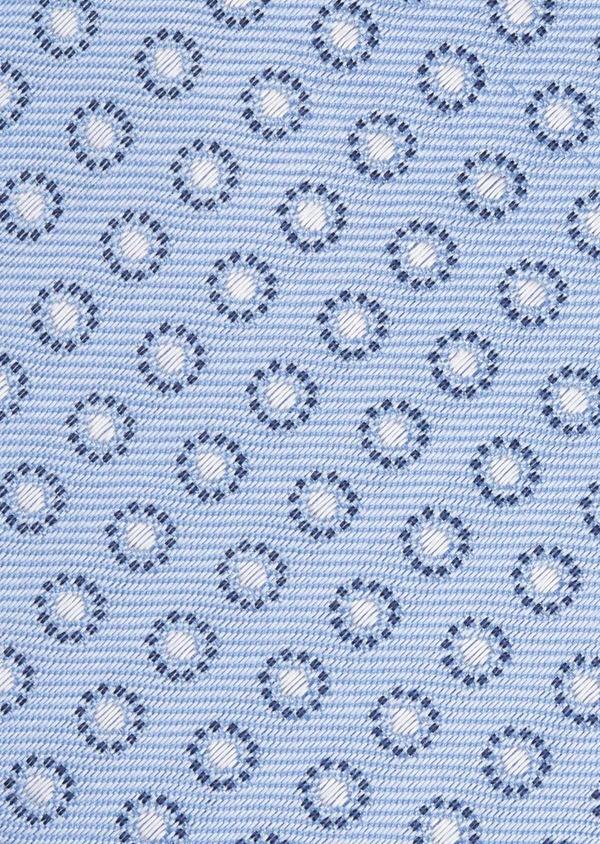 Cravate large en soie à motifs géométriques bleu clair - Father and Sons 6186