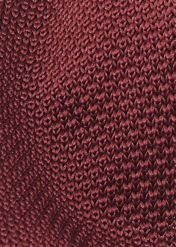Cravate fine en tricot de soie unie bordeaux - Father and Sons 9078