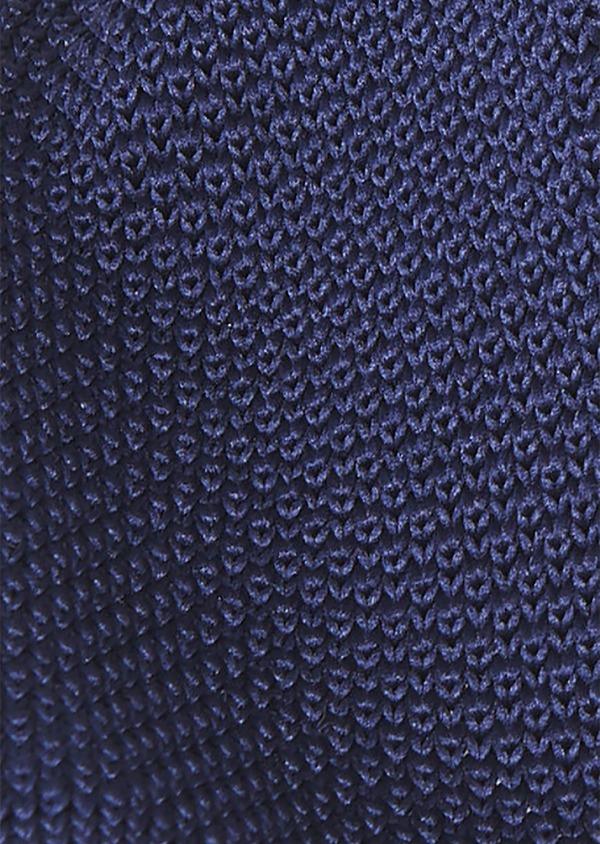 Cravate fine en tricot uni marine - Father and Sons 9082