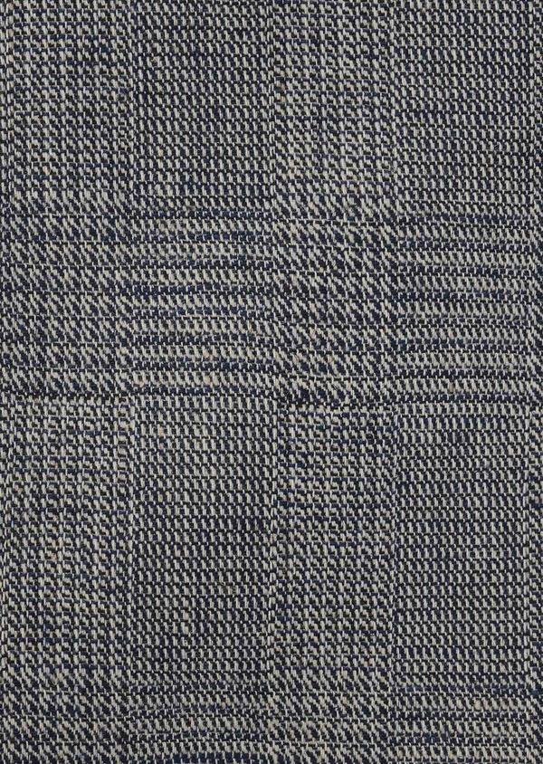 Gilet casual en coton mélangé bleu gris Prince de Galles - Father and Sons 8111