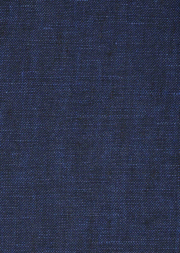 Gilet casual en lin bleu Prince de Galles - Father and Sons 6294