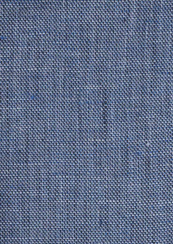 Gilet casual en lin uni bleu - Father and Sons 6301