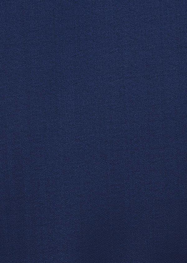 Gilet de smoking en laine unie bleue - Father and Sons 6322