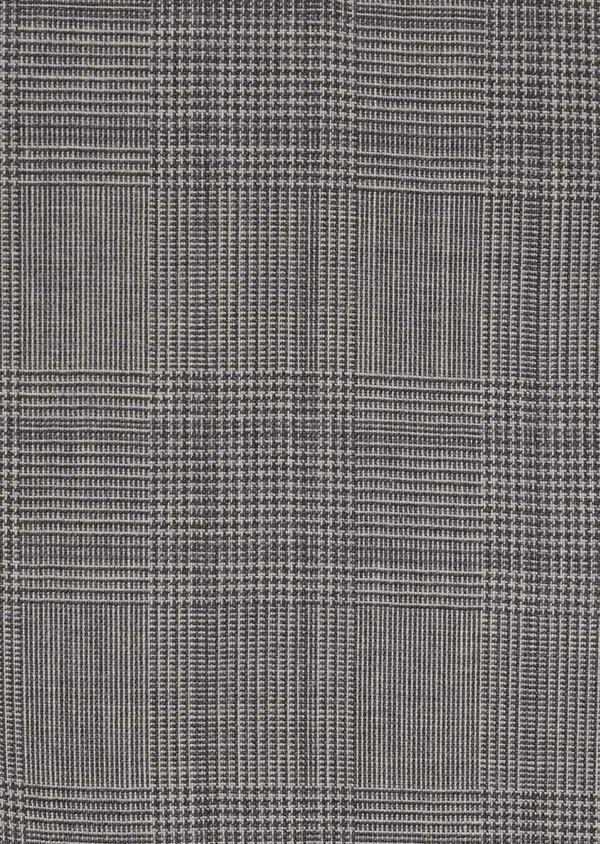 Gilet de costume en laine gris clair Prince de Galles - Father and Sons 6338
