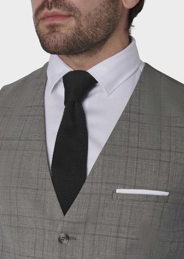 Gilet de costume en laine gris clair Prince de Galles - Father and Sons 6341