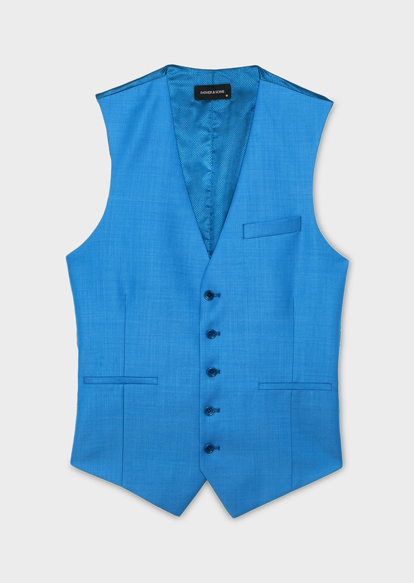 Gilet de costume en laine bleue - Father and Sons 6409