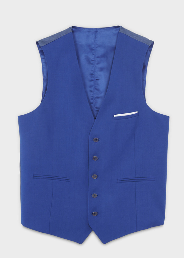 Gilet de costume en laine bleu roi - Father and Sons 6345