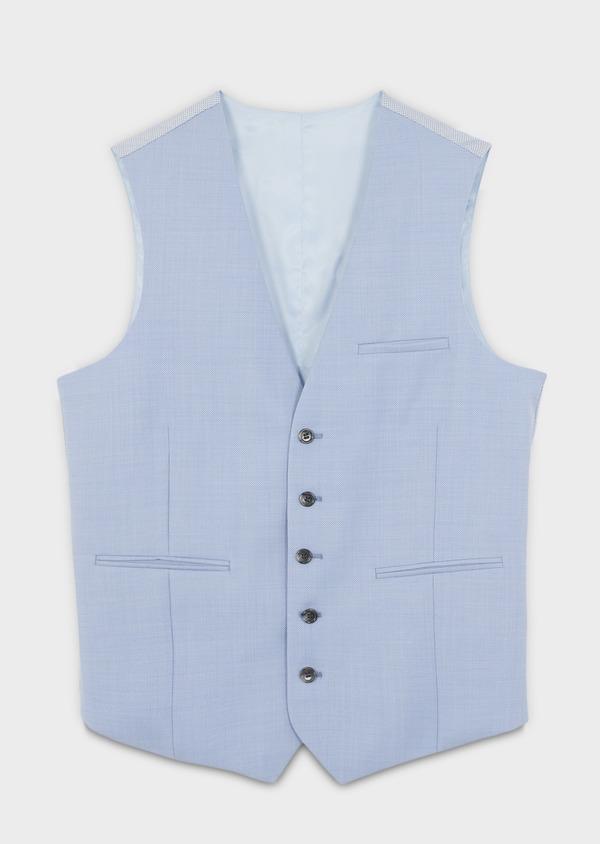 Gilet de costume en laine bleu clair - Father and Sons 6369