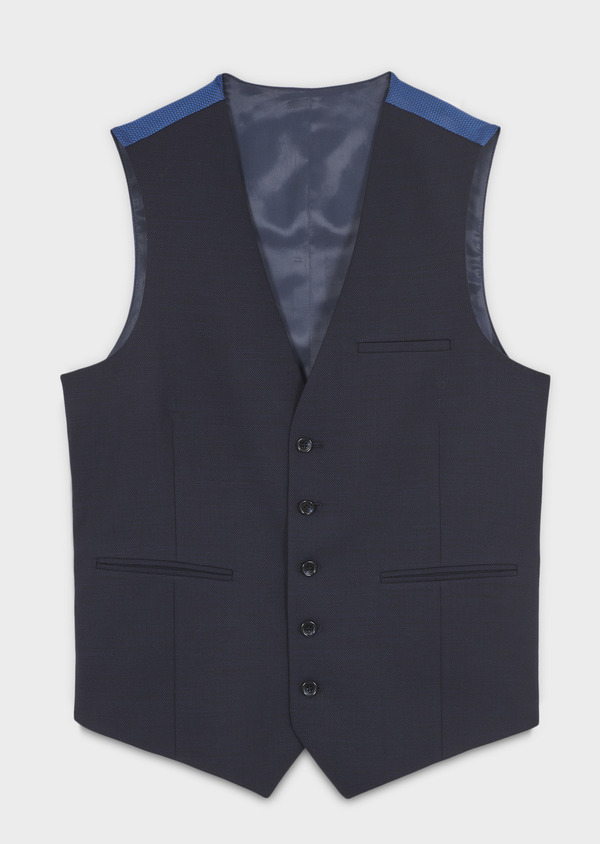 Gilet de costume en laine bleu marine - Father and Sons 6353