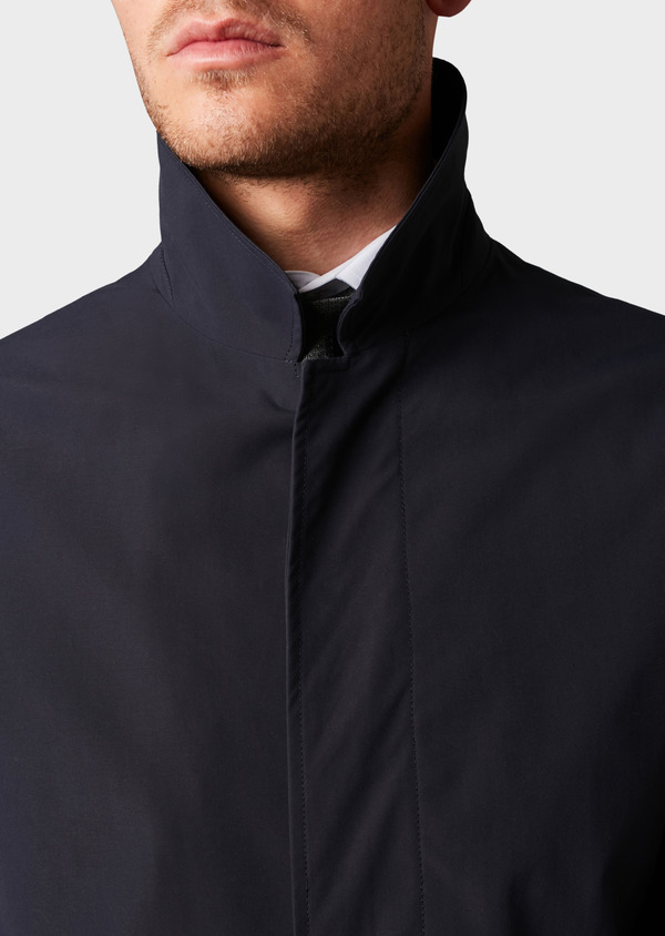 Trench droit uni bleu indigo - Father and Sons 6458