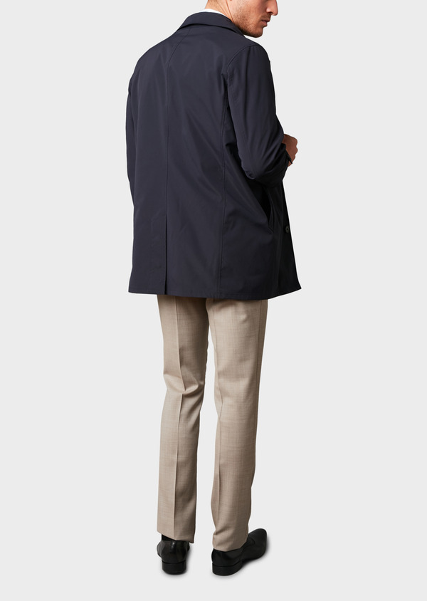 Trench droit uni bleu indigo - Father and Sons 6457