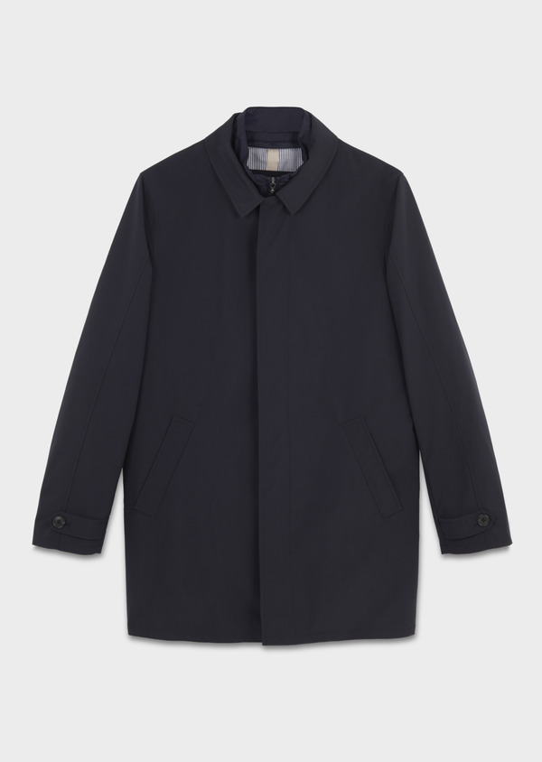 Trench droit uni bleu indigo - Father and Sons 6454