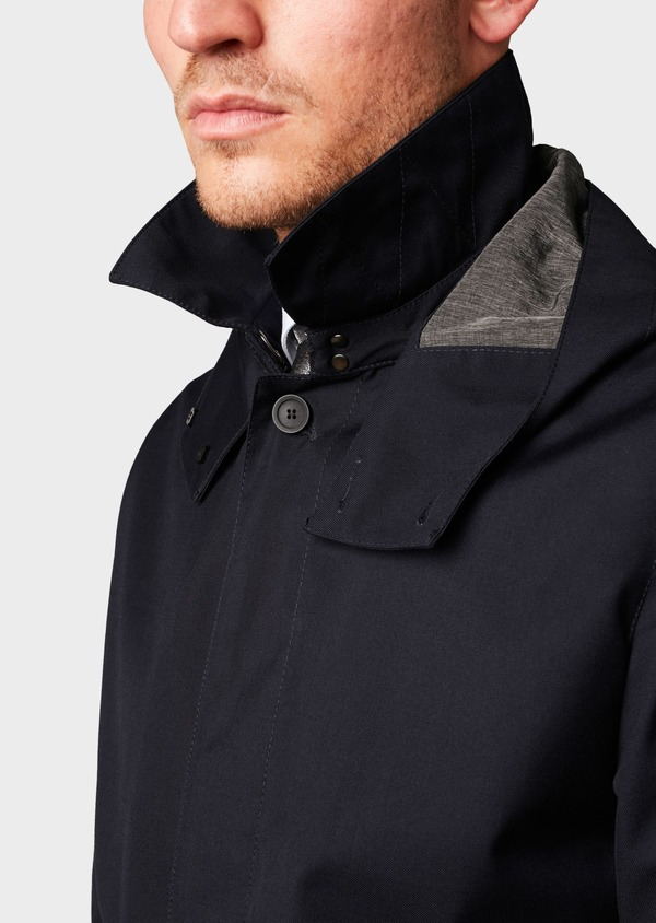 Trench droit uni bleu marine - Father and Sons 6430