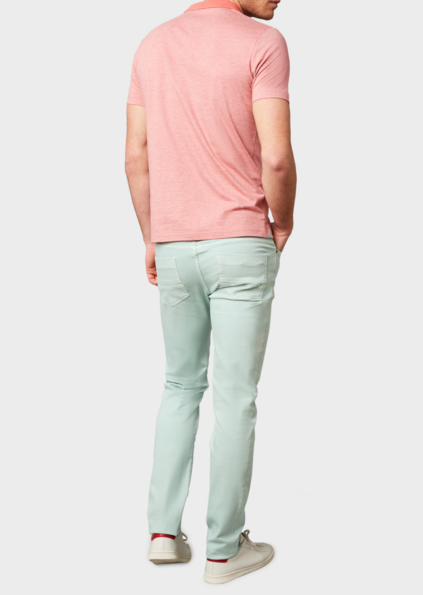 Jean skinny en coton hyperflex uni vert - Father and Sons 6485