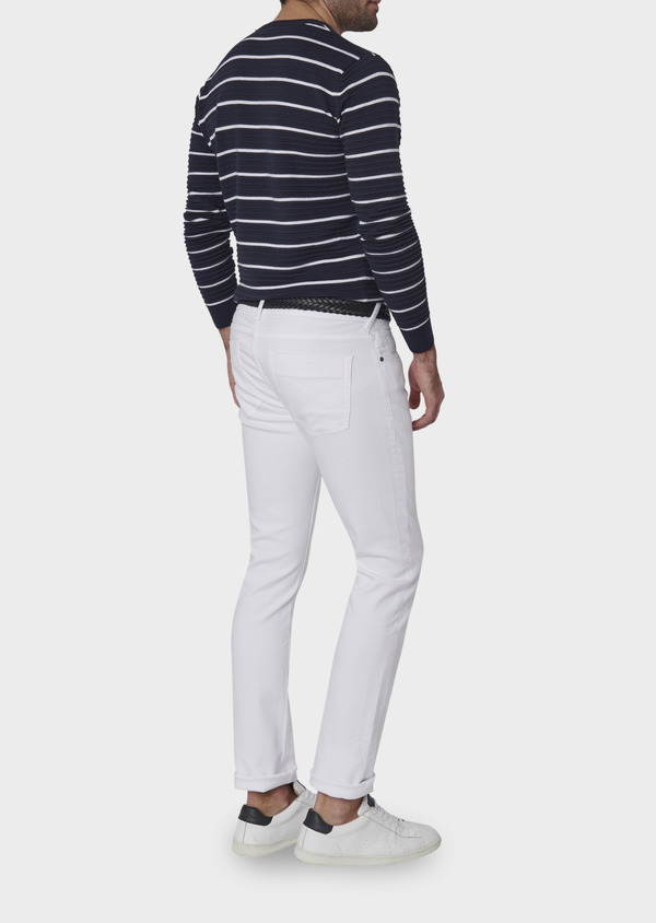 Jean skinny en coton hyperflex uni blanc - Father and Sons 6467