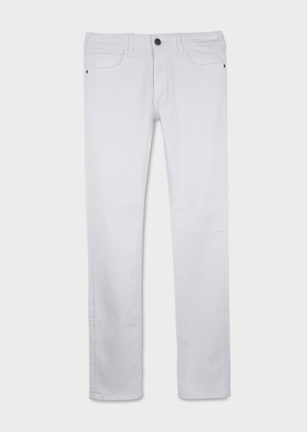 Jean skinny en coton hyperflex uni blanc - Father and Sons 6464