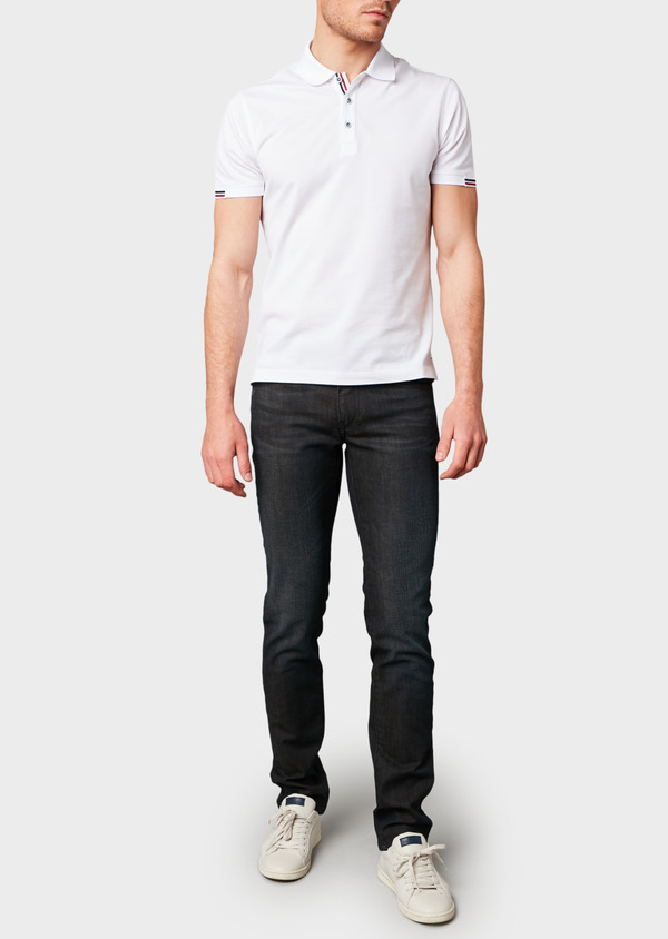 Jean skinny en coton hyperflex gris brut - Father and Sons 6508