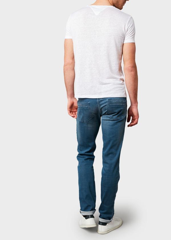Jean skinny en coton hyperflex bleu gris délavé - Father and Sons 6497