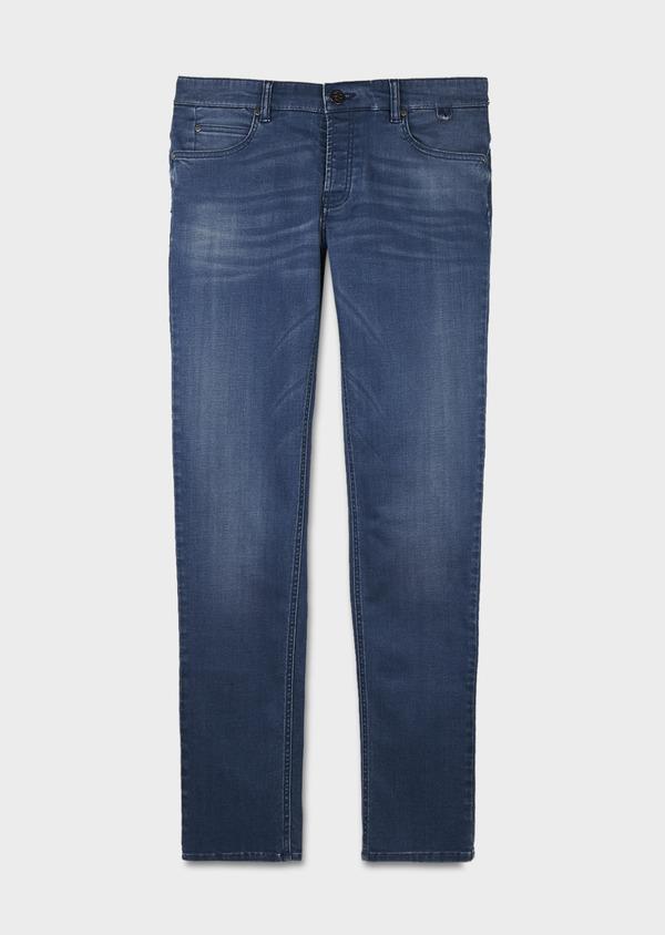 Jean skinny en coton hyperflex bleu gris délavé - Father and Sons 6494