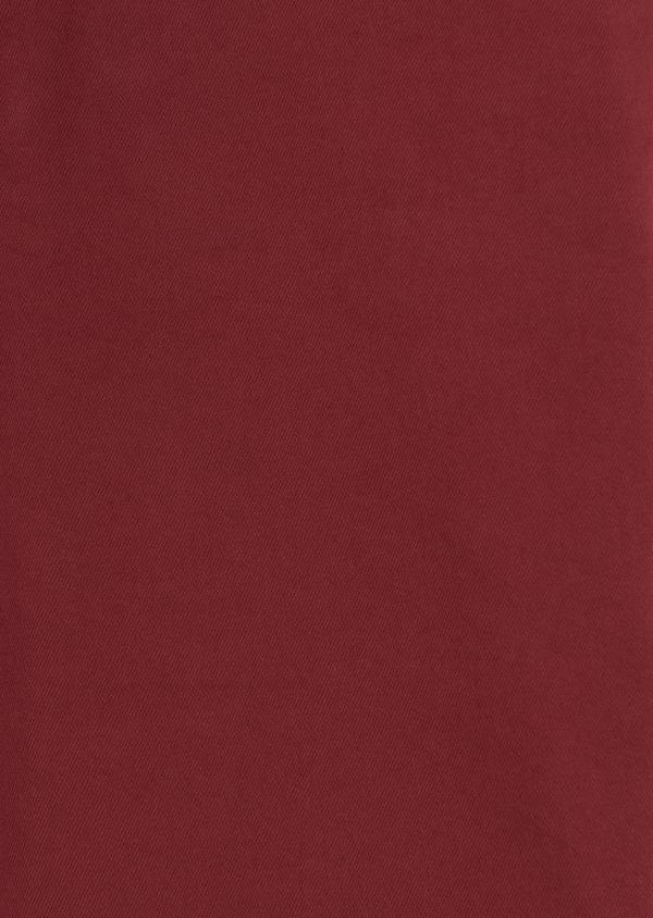 Jean skinny en coton hyperflex uni bordeaux - Father and Sons 8129