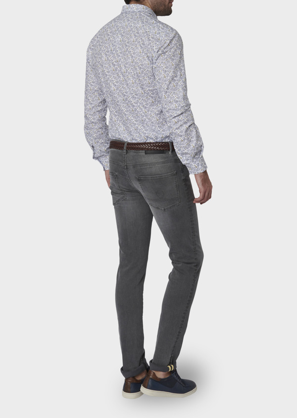Jean skinny en coton hyperflex gris délavé - Father and Sons 6503