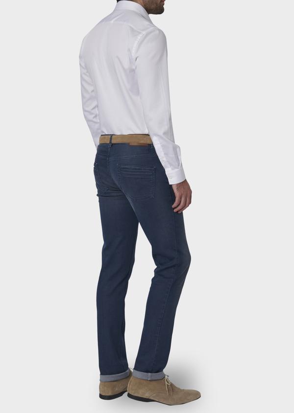 Jean skinny en coton hyperflex bleu indigo délavé - Father and Sons 6491