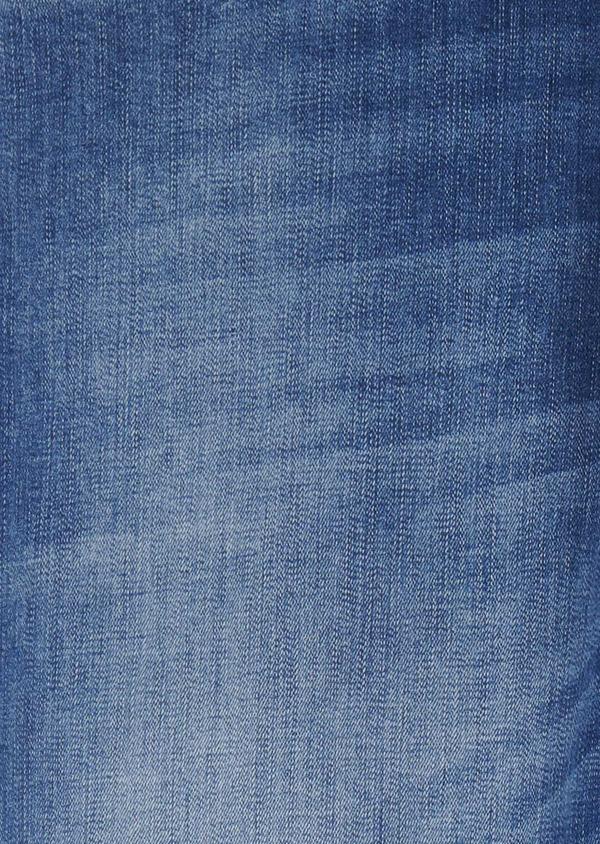 Jean skinny en coton hyperflex uni bleu clair - Father and Sons 6471