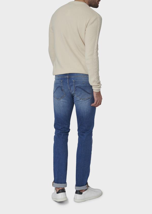 Jean skinny en coton hyperflex uni bleu clair - Father and Sons 6473