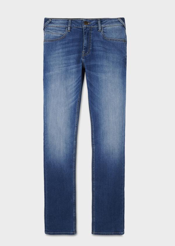 Jean skinny en coton hyperflex uni bleu clair - Father and Sons 6470