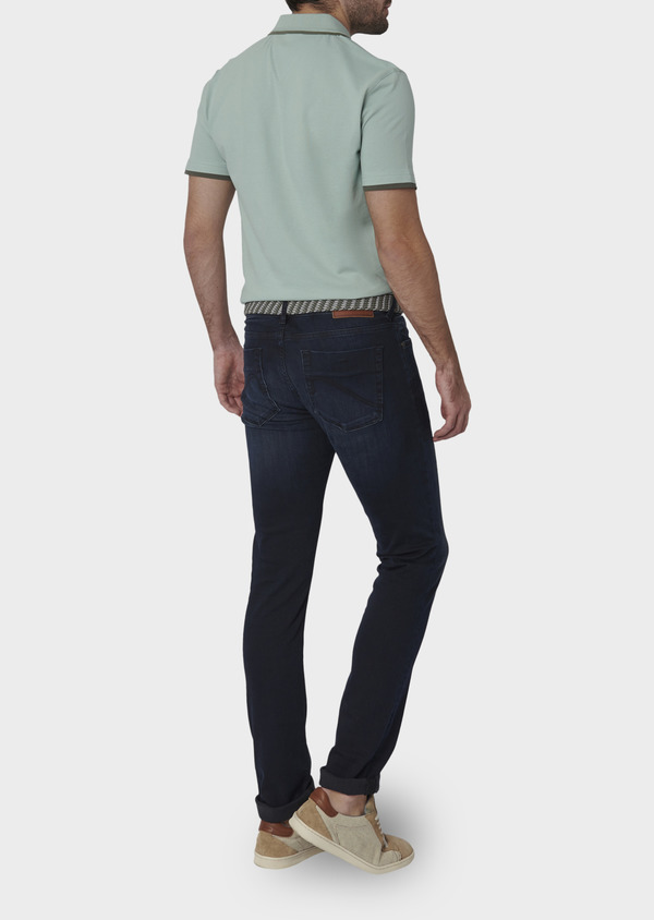 Jean skinny en coton hyperflex bleu marine brut - Father and Sons 6479
