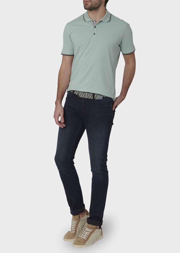 Jean skinny en coton hyperflex bleu marine brut - Father and Sons 6478
