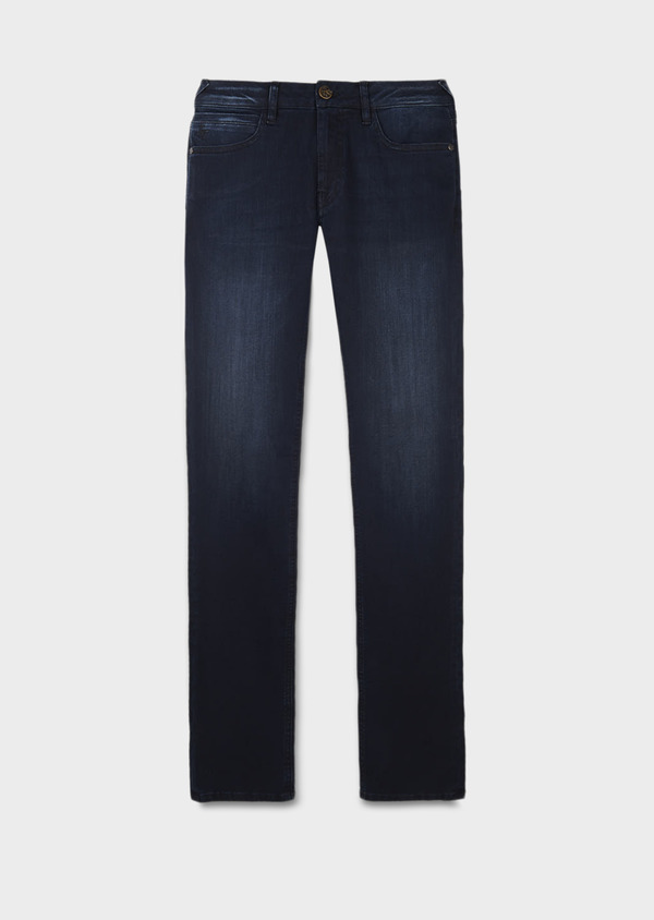 Jean skinny en coton hyperflex bleu marine brut - Father and Sons 6476