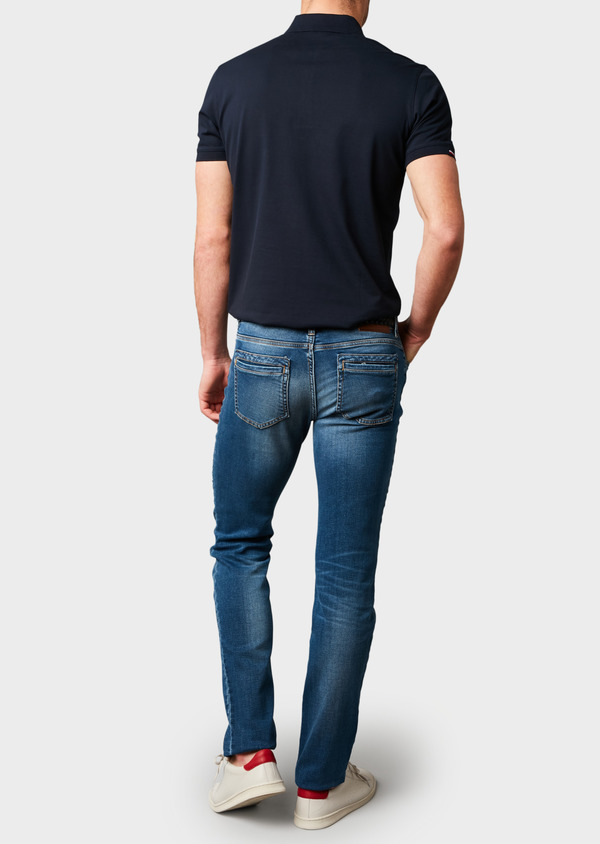 Jean skinny en coton hyperflex bleu délavé - Father and Sons 6515