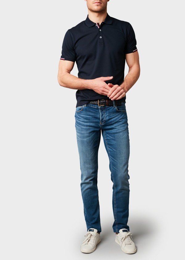Jean skinny en coton hyperflex bleu délavé - Father and Sons 6514