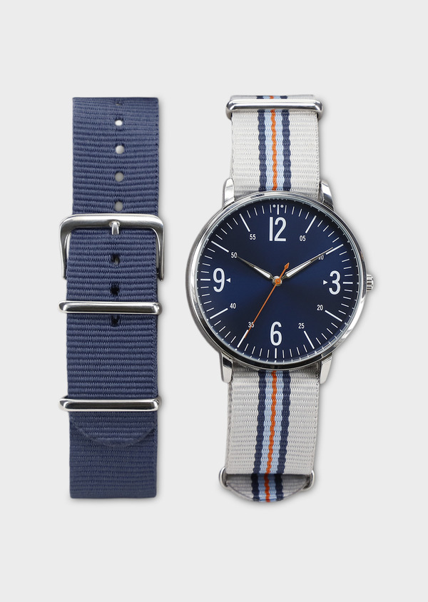 Montre bracelet nato interchangeable gris et bleu - Father and Sons 8139