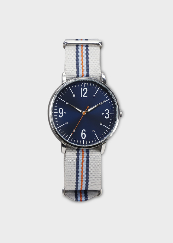 Montre bracelet nato interchangeable gris et bleu - Father and Sons 8138