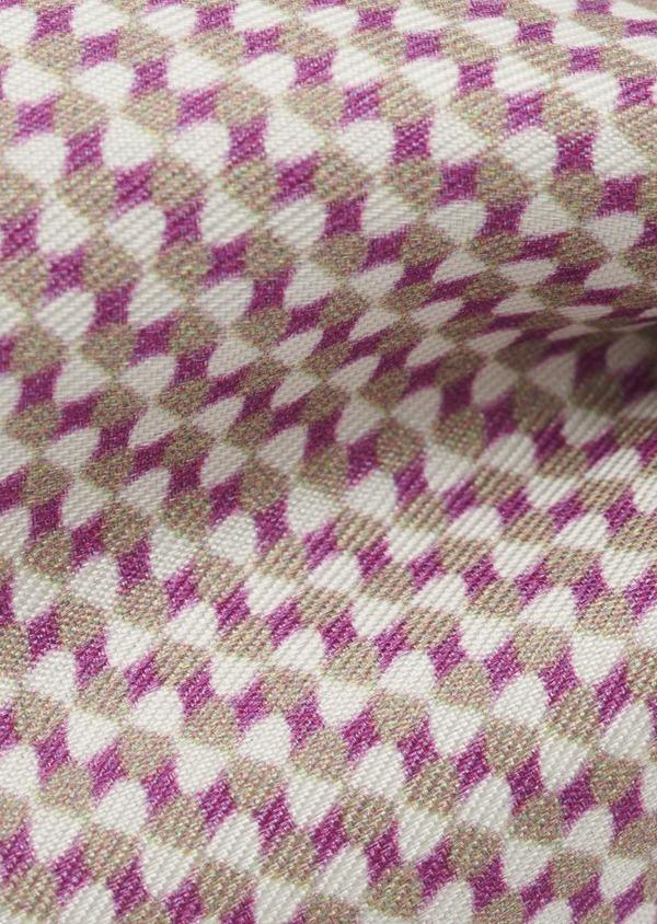 Noeud-papillon en soie à motifs géométriques rose foncé - Father and Sons 6523