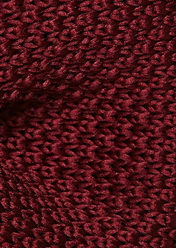 Noeud-papillon tricot uni bordeaux - Father and Sons 8786