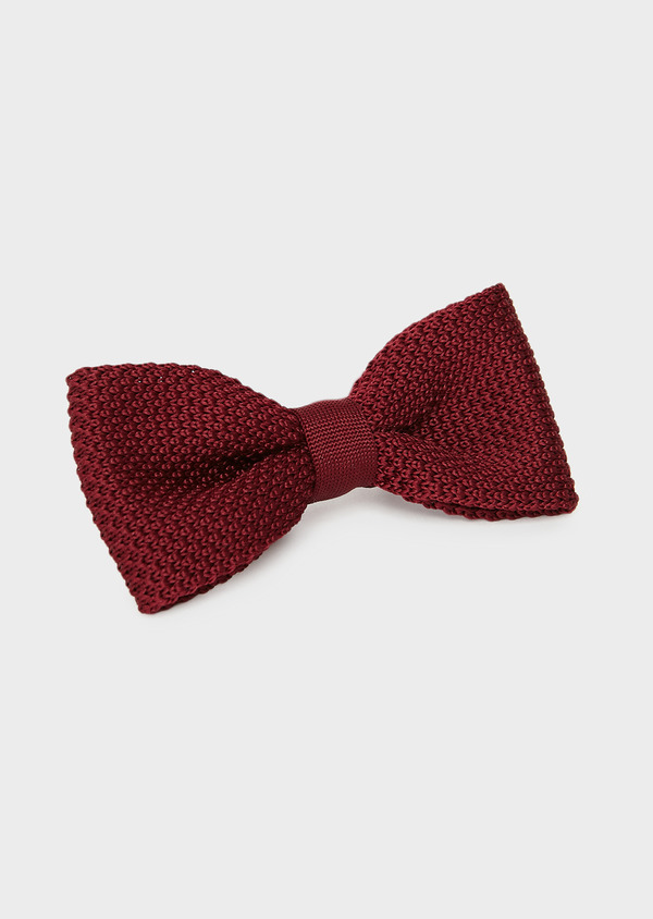Noeud-papillon tricot uni bordeaux - Father and Sons 8785