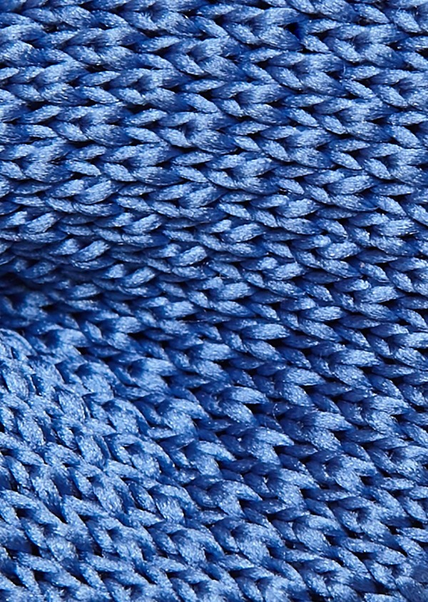 Noeud-papillon tricot uni bleu - Father and Sons 8794