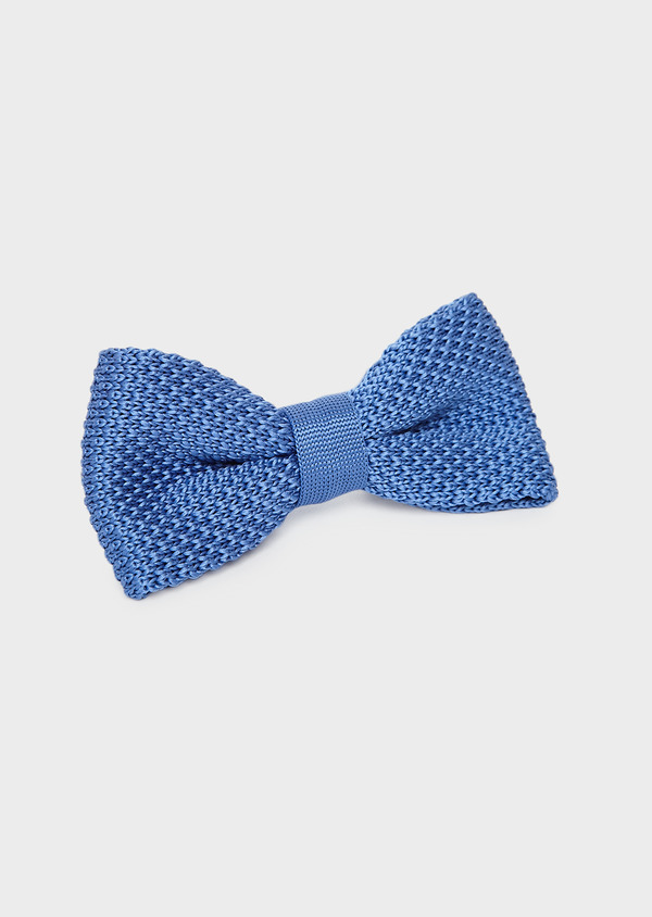Noeud-papillon tricot uni bleu - Father and Sons 8793
