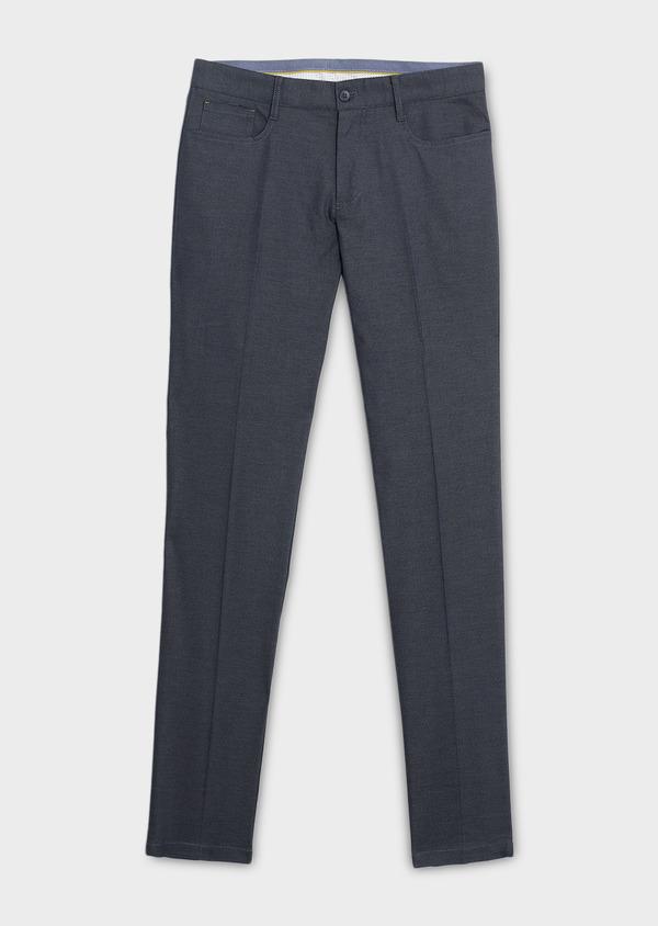 Pantalon coordonnable skinny en coton stretch uni gris clair - Father and Sons 6574