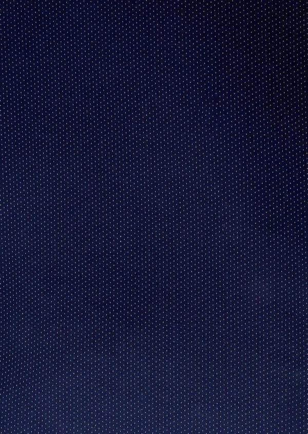 Chino slack skinny en coton stretch bleu indigo à pois - Father and Sons 6563