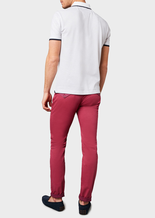 Chino slack skinny en coton stretch uni rose - Father and Sons 6583