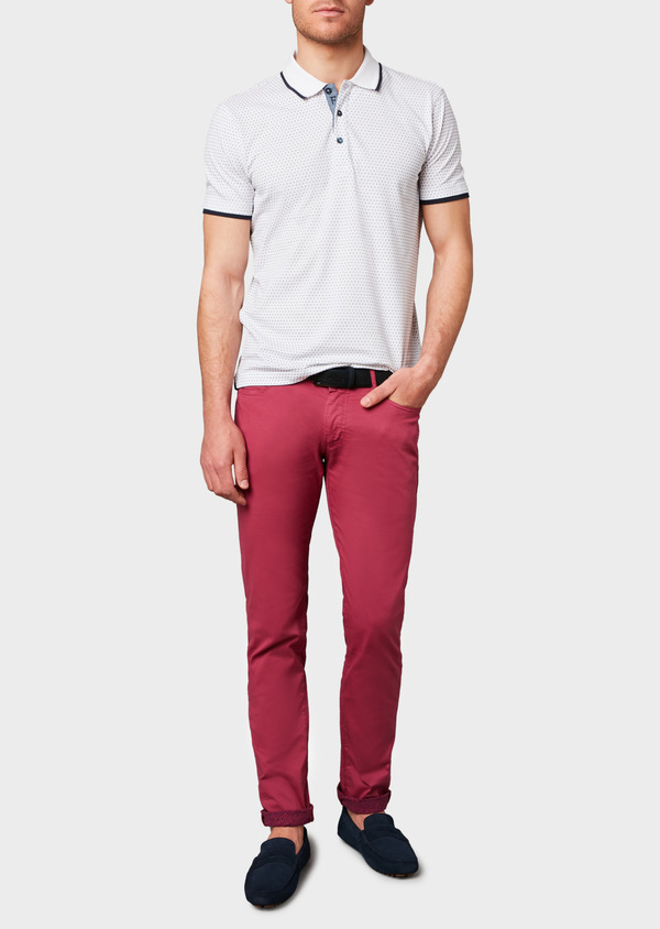 Chino slack skinny en coton stretch uni rose - Father and Sons 6582
