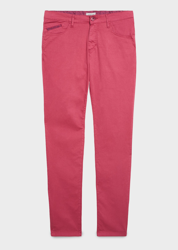 Chino slack skinny en coton stretch uni rose - Father and Sons 6580