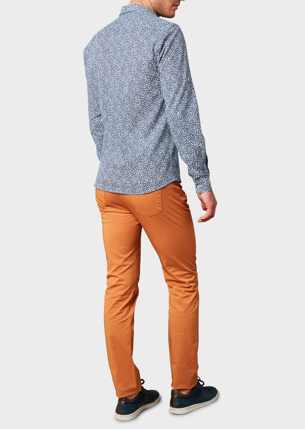 Chino slack skinny en coton stretch uni camel - Father and Sons 6589