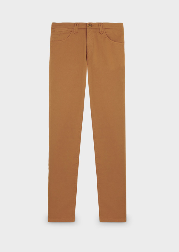 Chino slack skinny en coton stretch uni camel - Father and Sons 6586