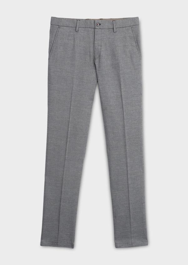 Pantalon coordonnable regular en lin mélangé marron - Father and Sons 6616