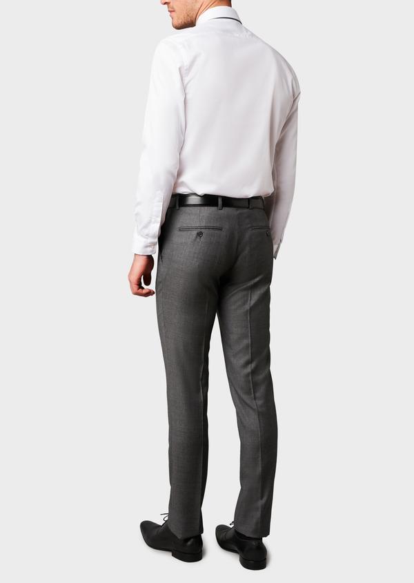 Pantalon de costume Regular en laine Vitale Barberis Canonico grise Prince de Galles - Father and Sons 9191